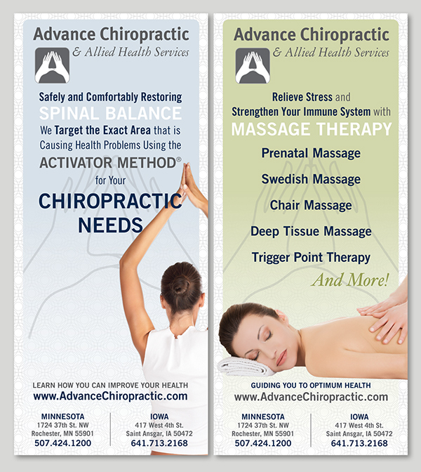Add to collection for Chiropractic brochures template