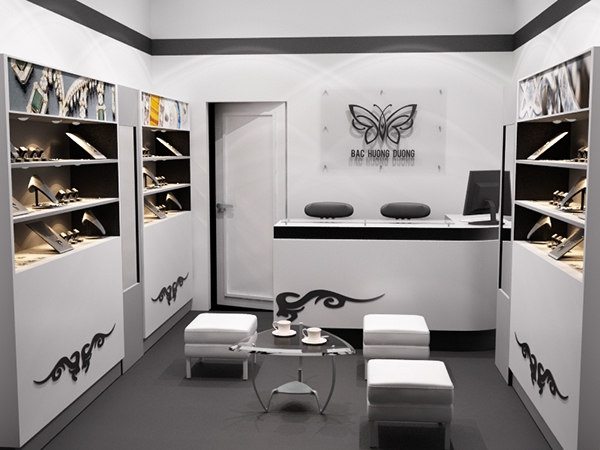 Small silver jewellery store on behance for Interior showroom design ideas
