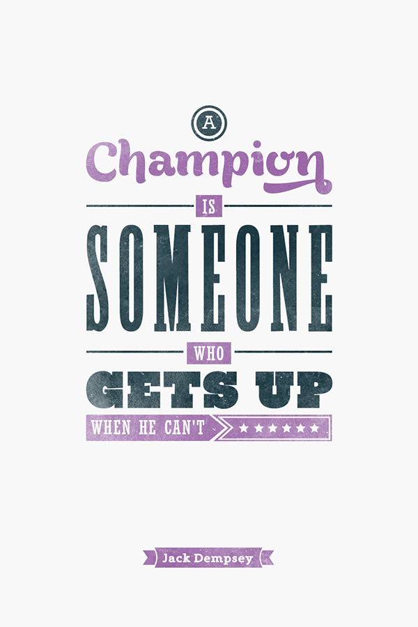 Typographic Quote Athletes On Behance