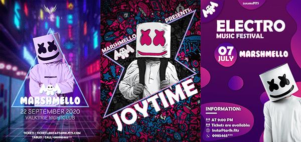 Music poster design [Marshmello]