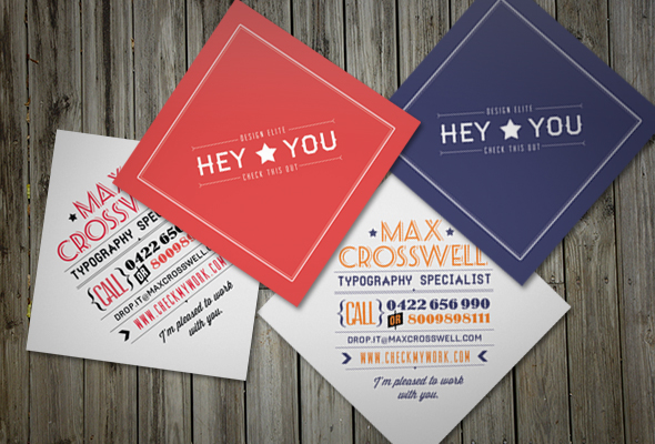 Retro Small Business Card on Behance