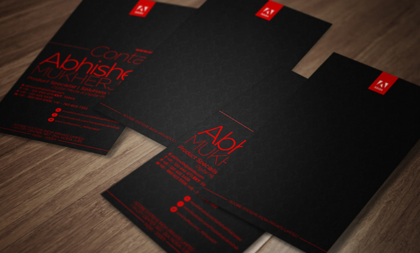 Business Card Design Adobe Systems On Behance