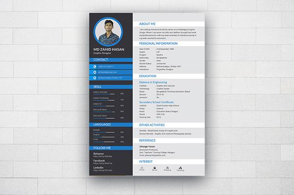 高質感的23張履歷表設計欣賞