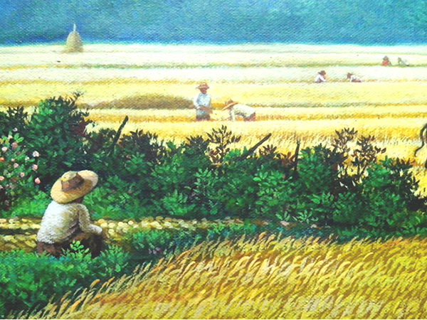 Painting Harvest Scenery in the Philippines. on Behance Ebay App Logo Png