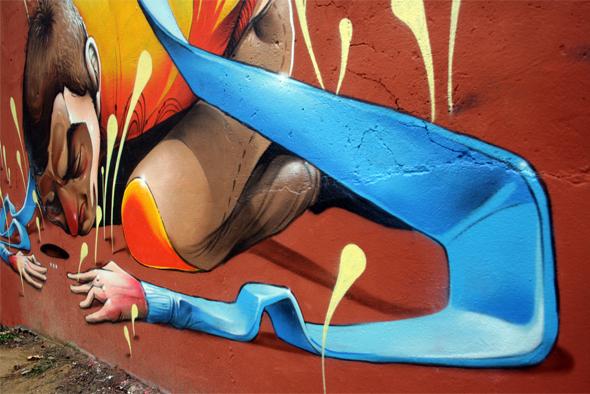 graff Graffiti art paint Isaacmahow   mahow Street Mural spray ILLUSTRATION  aerosol zaragoza secret isaac