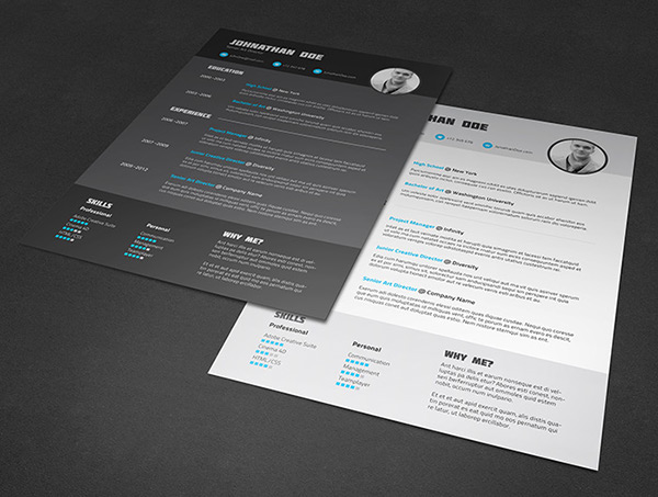 Resume cv template on behance pronofoot35fo Images