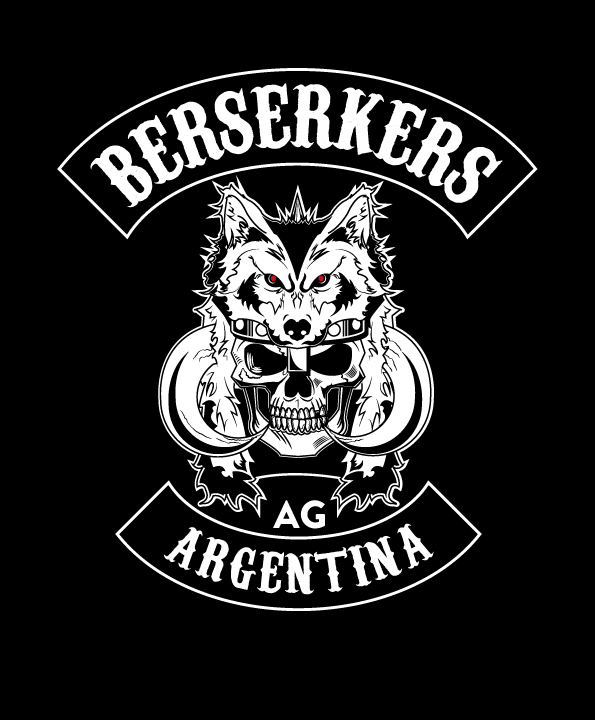 berserkers motorcycle club logo on behance. Black Bedroom Furniture Sets. Home Design Ideas