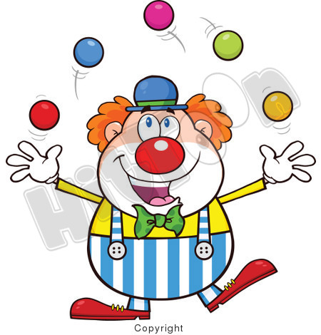clown cartoon characters on behance