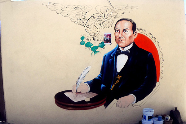Mural benito juarez on behance for Benito juarez mural