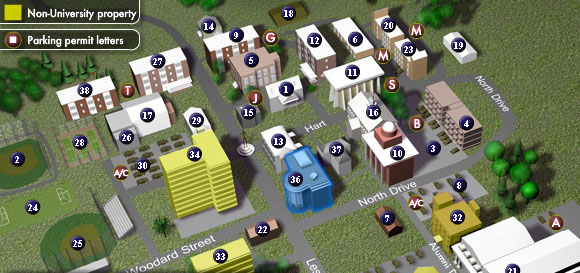 scad atlanta campus map 3 D Modeling And Interactive Campus Map Design On Scad Portfolios