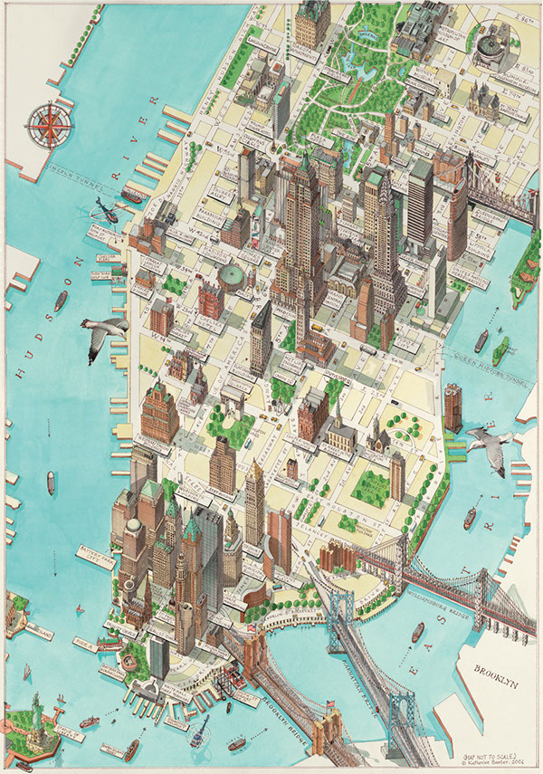 3d manhattan new york map on behance - Callejero manhattan ...