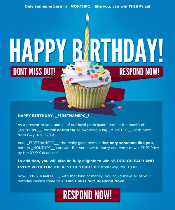 PCH Birthday Promotion on Behance