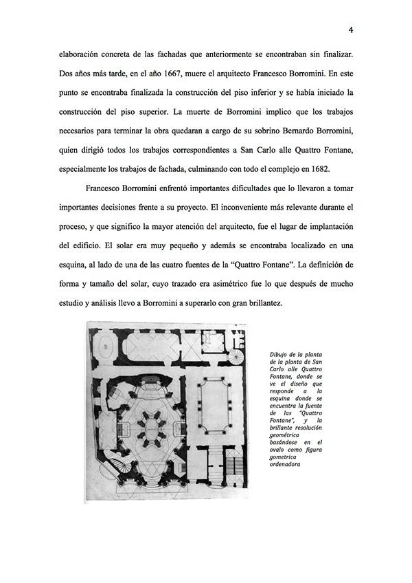 La Geometria De San Carlo Alle Quattro Fontane On Los Andes Portfolios