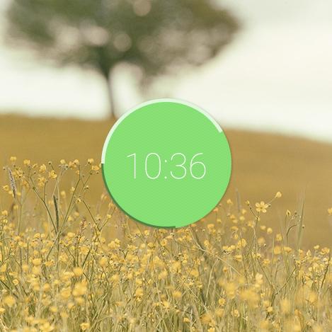 green flat ui design UX design timer DailyUI design