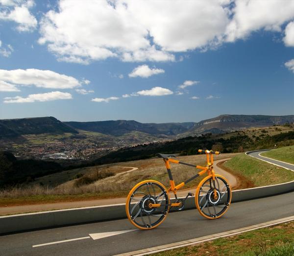 Bike  urban  compactable  green  new  wheel folding innovation