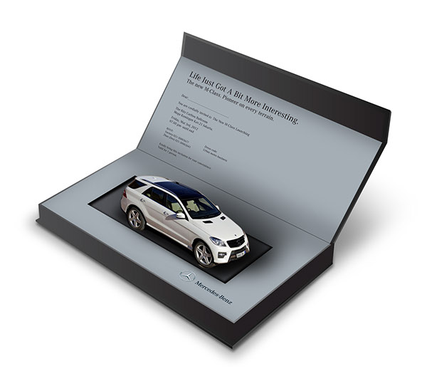 New Mercedes Benz M Class Launching Invitation Pop Up On
