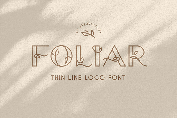 Foliar - Thin Line Logo Font