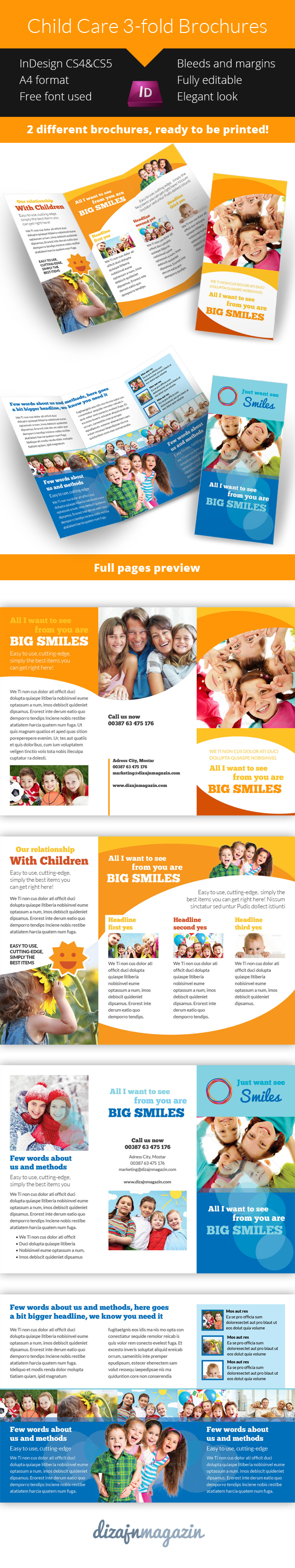 child care brochure on behance