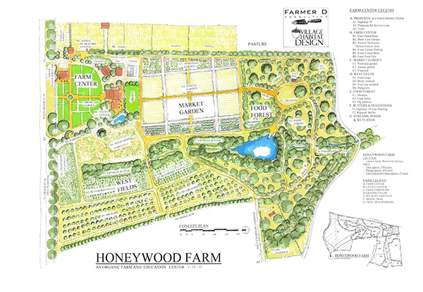 Honeywood farm in barnesville georgia usa on behance 1 acre farm layout