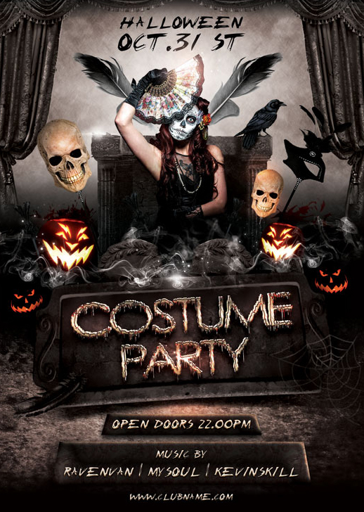 Costume Party Flyer  PetitComingoutpolyCo