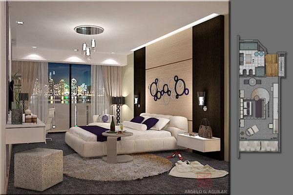 Italian plum bedroom on behance for Plum bedroom designs