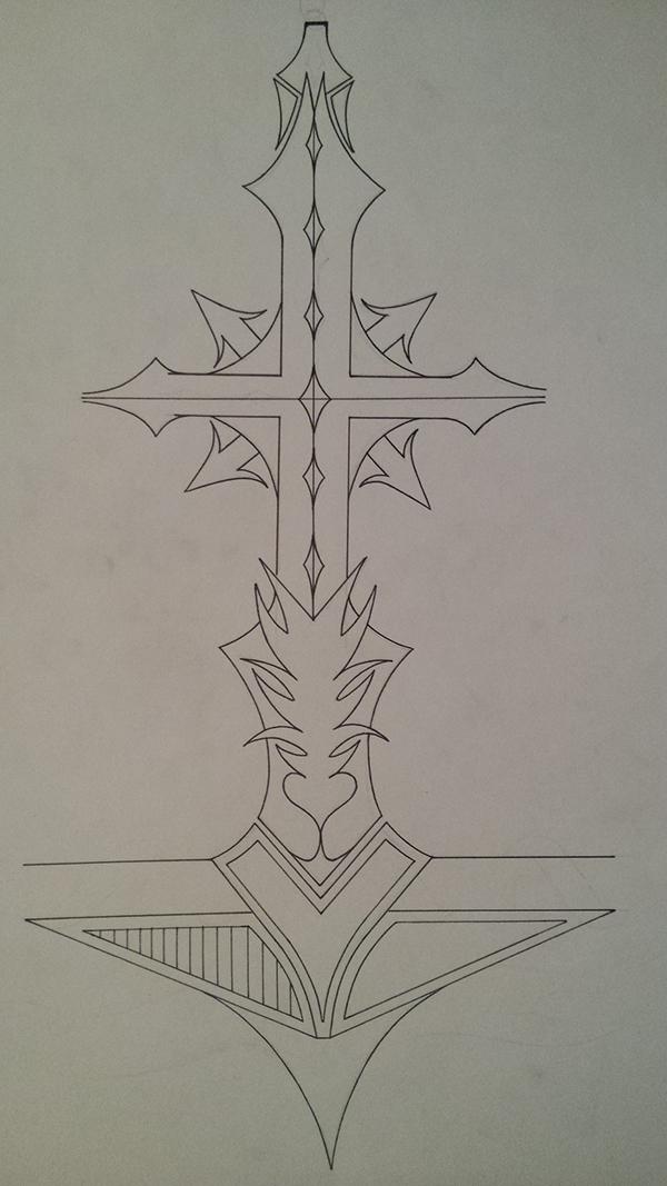 有創意感的12張十字架刺青欣賞