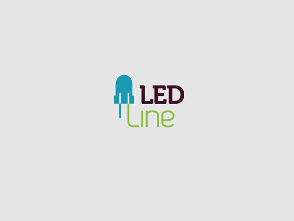 led line lighting webshop logo ontwerp identity design on