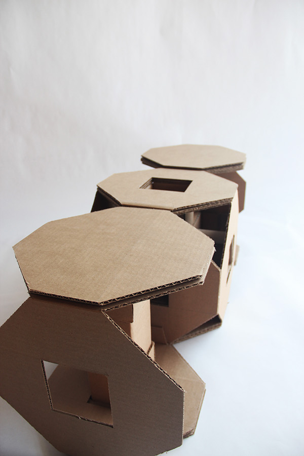 The Assignment Was To Make A Modular Cardboard Chair That Can Be  Reconfigured To Create At Least Three Different Chairs ...