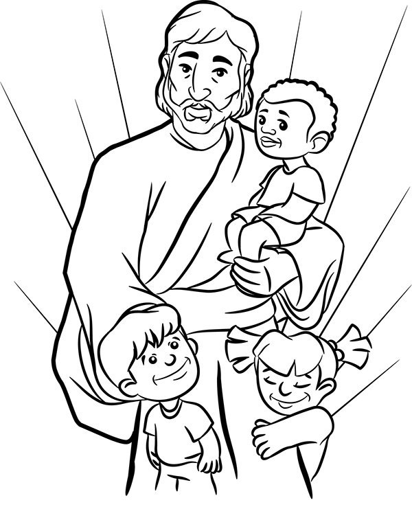 friends of jesus coloring pages - photo#5