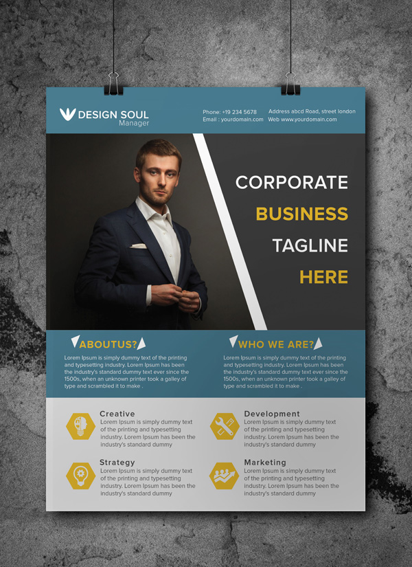 Free A Corporate Flyer Template On Behance