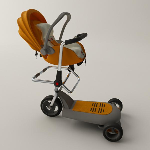 Mutifunction stroller on behance Motorized baby stroller