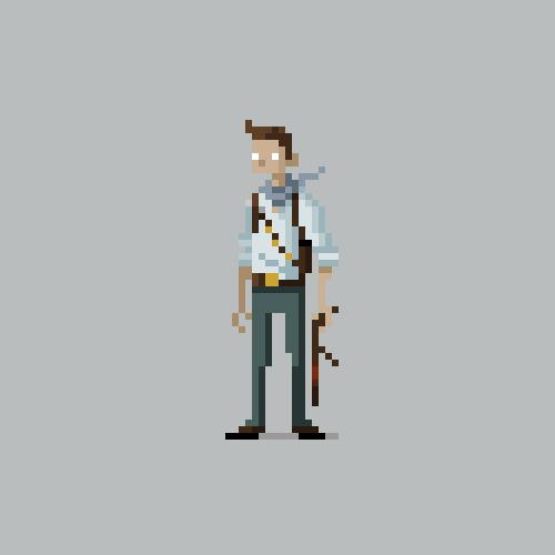 Pixel Art Character Design Tutorial : Pixel video game characters for kotaku on behance