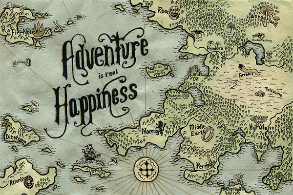 Adventure Map On Behance