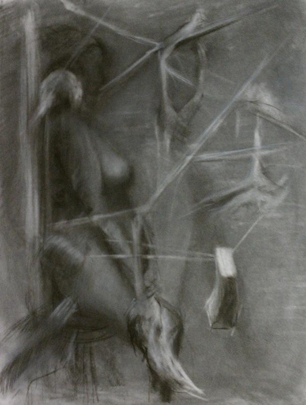 charcoal conte graphite
