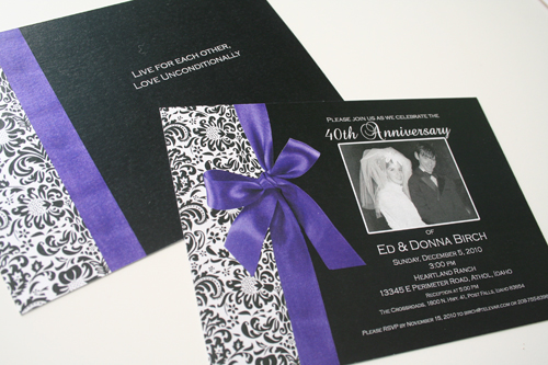 anniversary invitation design program on behance