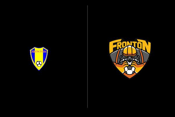 frontón soccer koniu Team Branding sport logo ball team