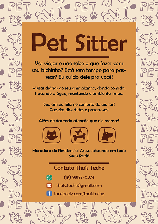 flyer pet sitter on student show