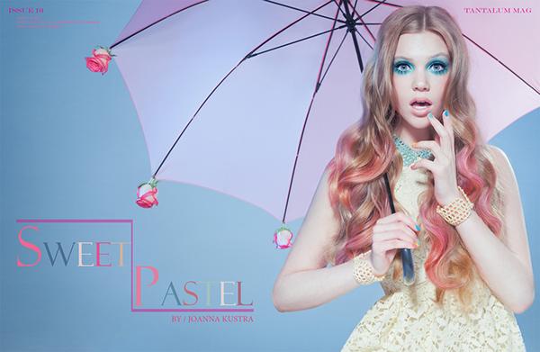 joanna kustra  kustra  fashion  beauty  pastels  make-up sweet  Photography  studio