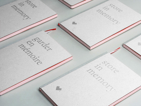 notebook set Promotion branding  silver flyer red White poland