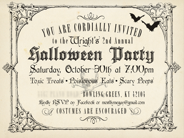 Vintage Halloween Invitation And Poster Design On Behance
