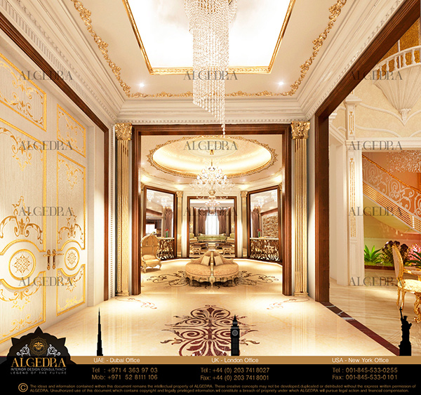 luxury lobby design by algedra on behance