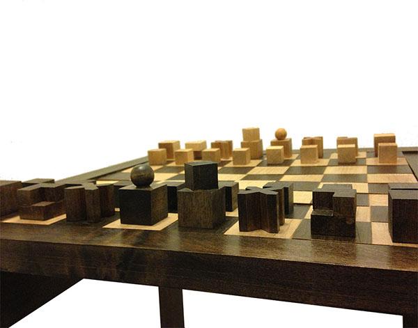 Bauhaus chess set on behance - Bauhaus chess board ...