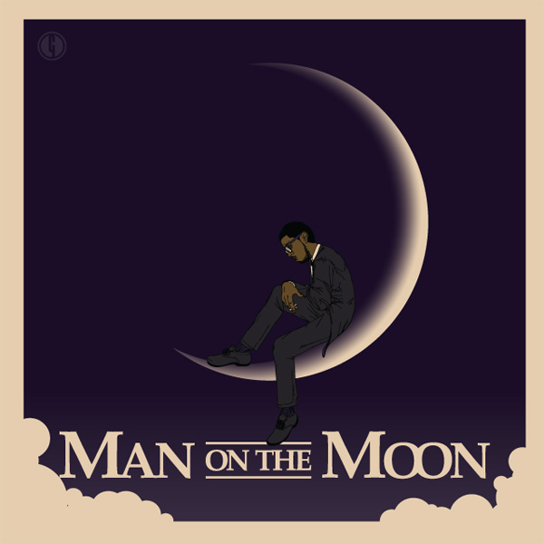 Man on the Moon Poster on Behance