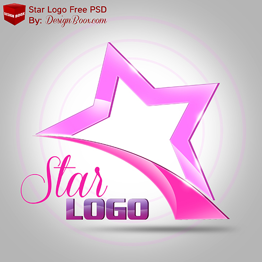 3d star logo free psd template on behance