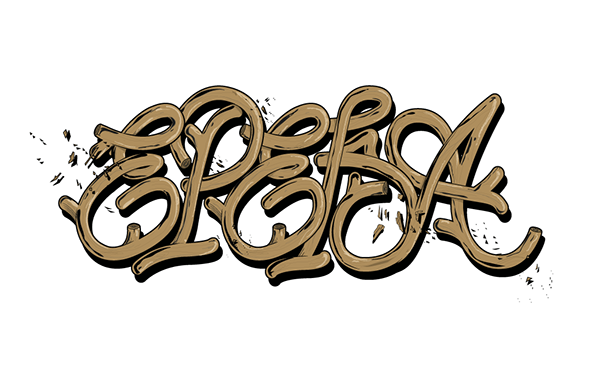 wood letters baroque