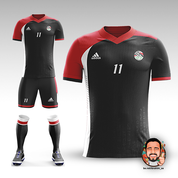 cheaper 1b871 4967d Egyptian National Team Football Kit Concept on Pantone ...