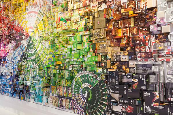 Mural Interpack mayr-melnhof gerlinde gruber Christine Strempel artwork kunst Fair austria vienna wandbild art collage godzilla King Kong