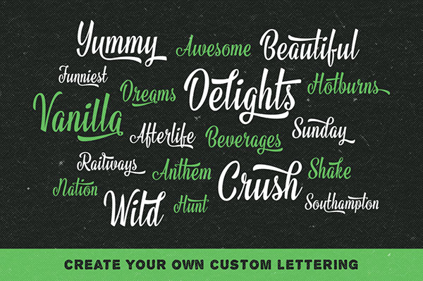logo Script cursive sign painting lettering traditional brush speed Urban Retro old vintage typo brand