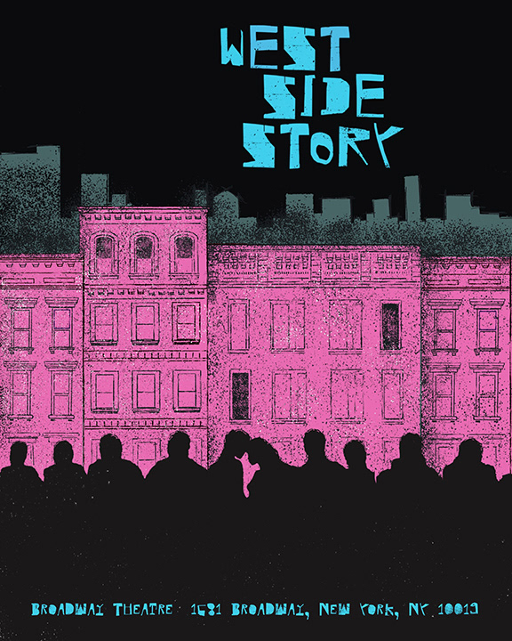 Poster design and illustration for West Side Story on Broadway 2020.
