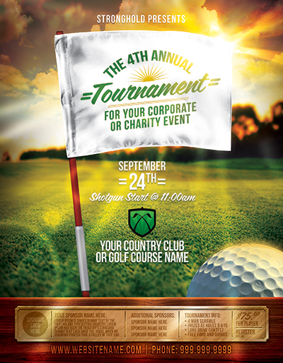 Golf Tournament Event Flyer Template On Behance